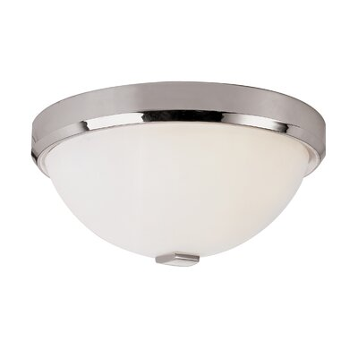 Squared Cap Flush Mount Finish: Polished Chrome