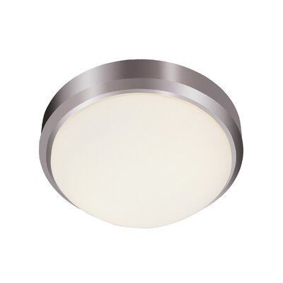 Classic 2-Light Flush Mount Finish: Brushed Nickel
