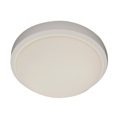Classic 2-Light Flush Mount Size: 5 H x 13 W, Finish: White