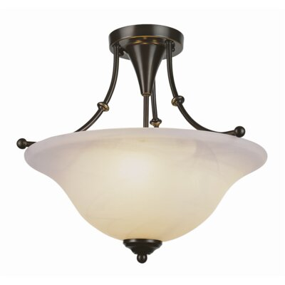 Contemporary Semi Flush Mount Finish: Weathered Bronze