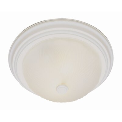 Back to Basics Flush Mount Finish: Antique White, Size: 6 H x 15 W
