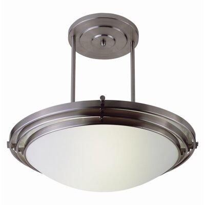 Indoor Semi Flush Mount Finish: Brushed Nickel