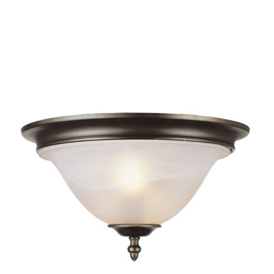 2-Light Flush Mount Finish: Rubbed Oil Bronze