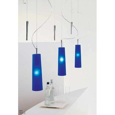 Stilo 1-Light Up And Down Pendant Color: Blue