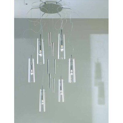 Stilo 6-Light Up And Down Pendant Color: Green