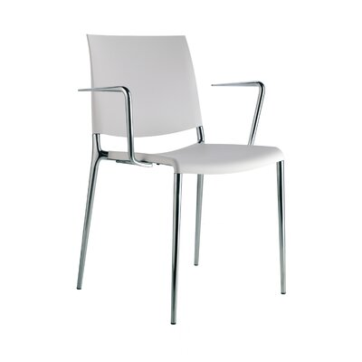 Low Price Rexite Alexa Arm chair (Set of 4) Frame Finish: Chromium, Seat Finish: Beaver