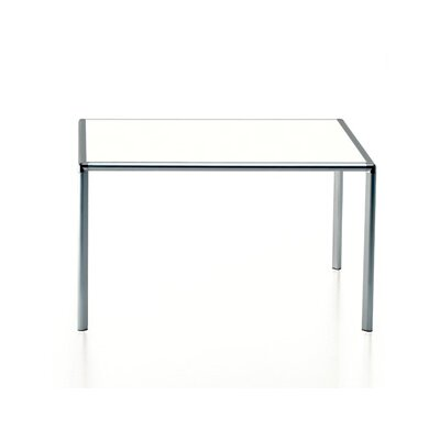 Enrico X 6.5 Dining Table Top Finish: Matte Glass, Size: 6 L