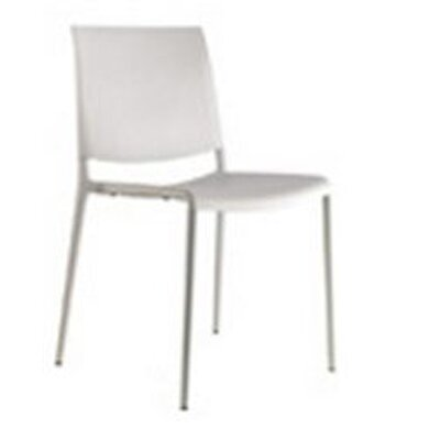 Alexa Side Chair (Set of 4) Frame Finish: Chromium, Upholstery: Beaver