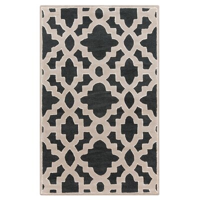 Modern Classics Coal Black Area Rug Rug Size: Rectangle 33 x 53