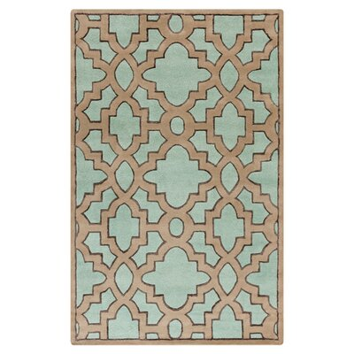 Modern Classics Teal/Light Brown Area Rug Rug Size: Rectangle 33 x 53