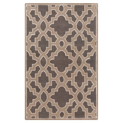 Modern Classics Charcoal/Light Brown Area Rug Rug Size: Rectangle 2 x 3