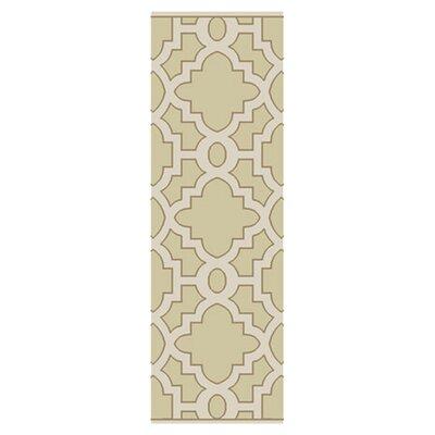 Modern Classics Cream/White Area Rug Rug Size: Runner 26 x 8