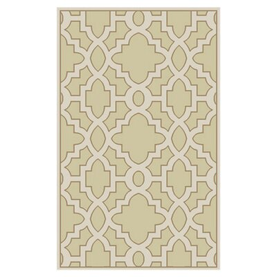 Modern Classics Cream/White Area Rug Rug Size: Rectangle 5 x 8