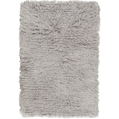 Whisper Handmade Light Gray Area Rug Rug Size: 2 x 3