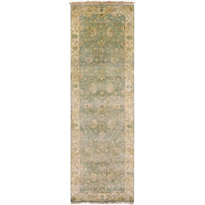 Temptress Sea Foam/Ivory Rug Rug Size: Runner 26 x 8