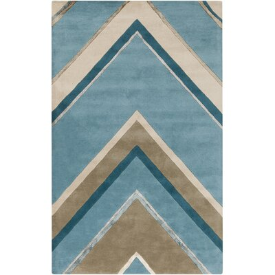 Modern Classics Handmade Blue Area Rug Rug Size: Rectangle 5 x 8