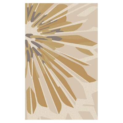 Modern Classics Beige/White Area Rug Rug Size: Rectangle 5 x 8