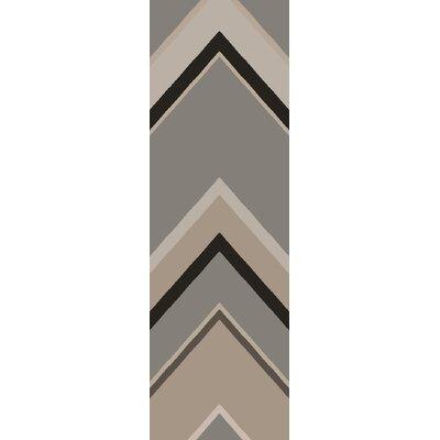 Modern Classics Gray Geometric Area Rug Rug Size: Runner 26 x 8