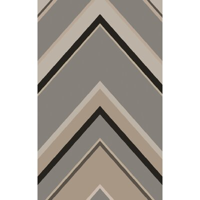Modern Classics Gray Geometric Area Rug Rug Size: Rectangle 33 x 53
