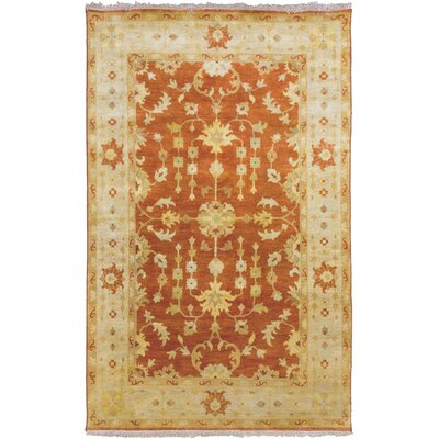 Temptress Gold/Red Rug Rug Size: Rectangle 2 x 3