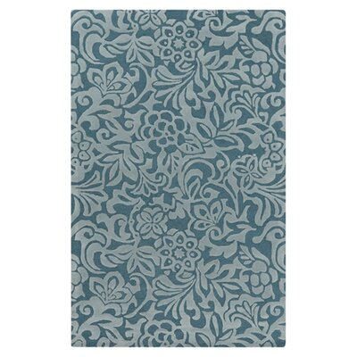 Modern Classics Hand-Tufted Teal Blue/Stormy Sea Area Rug Rug Size: Rectangle 5 x 8