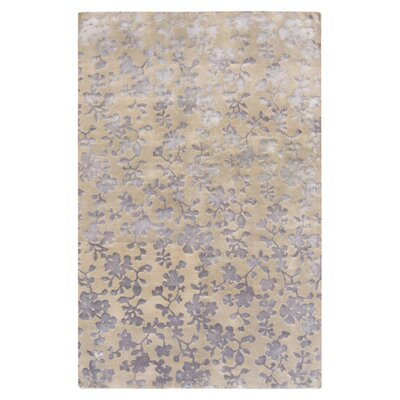 Luminous Dove Gray Floral Area Rug Rug Size: Rectangle 2 x 3