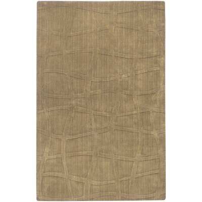 Sculpture Hand-Woven Taupe Area Rug Rug Size: Rectangle 9 x 13