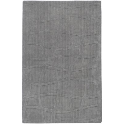 Sculpture Gray Checked Area Rug Rug Size: Round 8