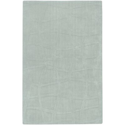 Sculpture Light Blue Checked Area Rug Rug Size: 5 x 8