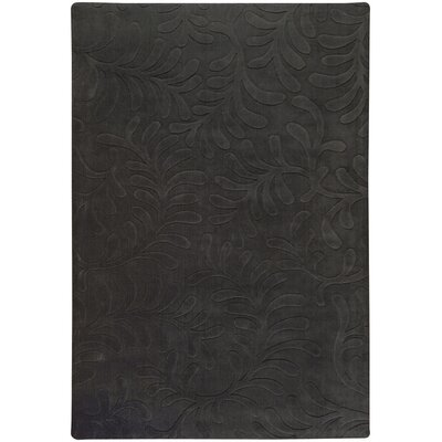 Sculpture Black Area Rug Rug Size: 9 x 13