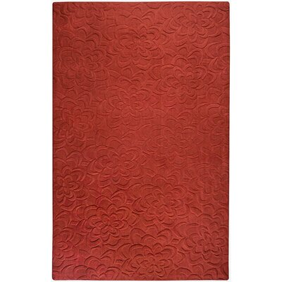 Red Area Rug Rug Size: 9 x 13