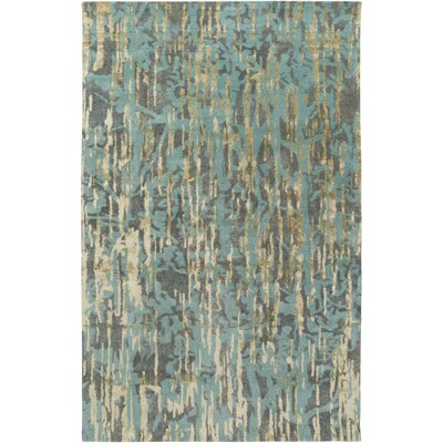 Zephyr Hand-Tufted Blue Area Rug Rug Size: Rectangle 5 x 76