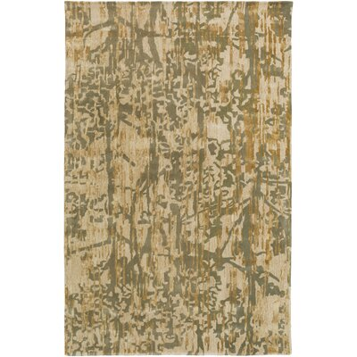 Zephyr Hand-Tufted Green/Brown Area Rug Rug Size: Rectangle 5 x 76