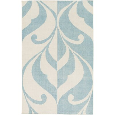 Paradox Hand-Knotted Blue/Neutral Area Rug Rug Size: Rectangle 2 x 3