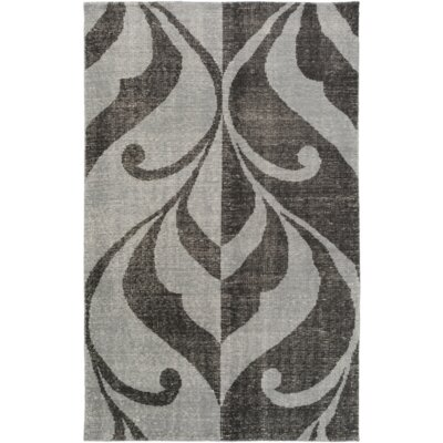 Paradox Hand-Knotted Black/Gray Area Rug Rug Size: Rectangle 8 x 10