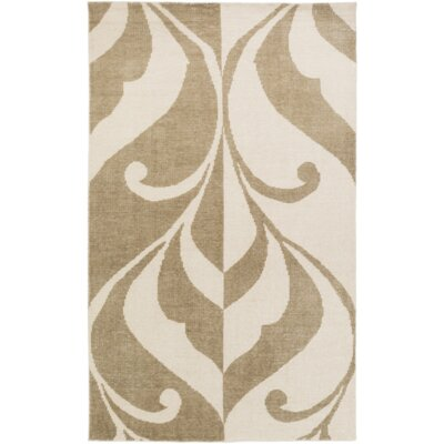 Paradox Hand-Knotted Brown/Neutral Area Rug Rug Size: 2 x 3