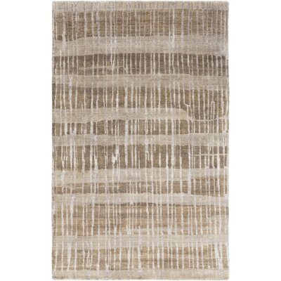 Luminous Olive Striped Rug Rug Size: Rectangle 5 x 8