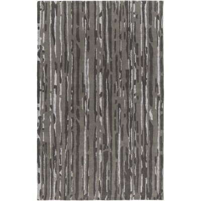 Modern Classics Black/Light Gray Rug Rug Size: Rectangle 5 x 8