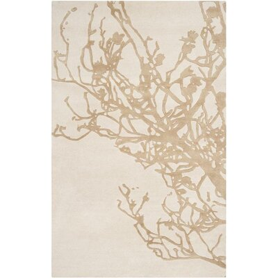 Modern Classics Peach Cream/Tan Rug Rug Size: Rectangle 8 x 11