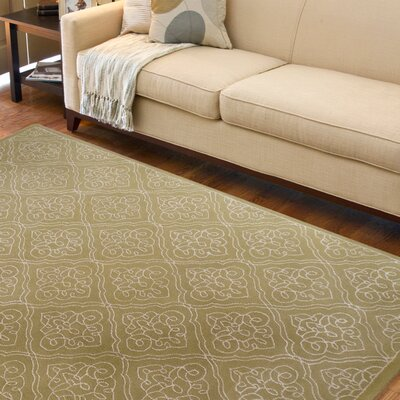 Modern Classics Pale Green Rug Rug Size: Rectangle 8 x 11