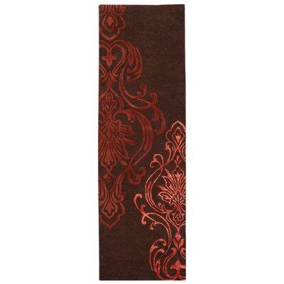 Modern Classics Chocolate/Rust Rug Rug Size: Runner 26 x 8