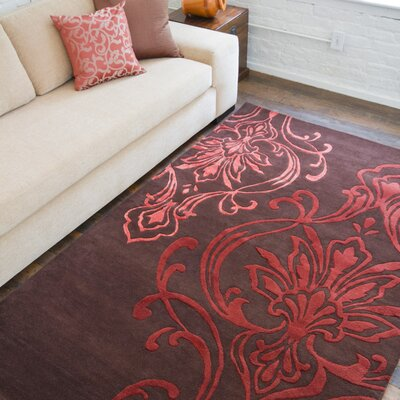 Modern Classics Chocolate/Rust Rug Rug Size: Rectangle 2 x 3
