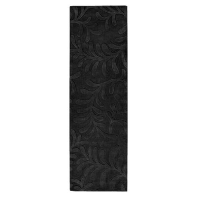 Sculpture Black Area Rug Rug Size: Runner 26 x 8
