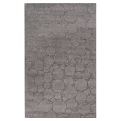 Sculpture Dove Gray Area Rug Rug Size: Round 8