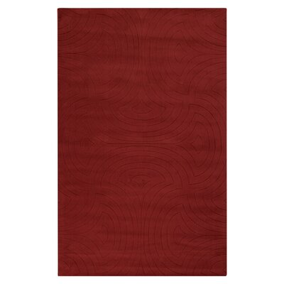 Sculpture Red Area Rug Rug Size: 5 x 8