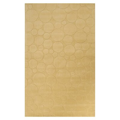Sculpture Tan Area Rug Rug Size: 9 x 13