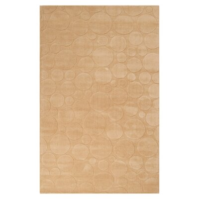 Sculpture Tan Area Rug Rug Size: 8 x 11