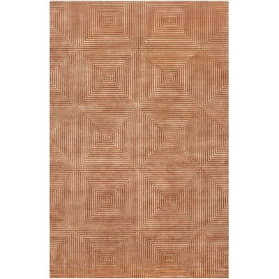 Luminous Rust Orange Area Rug Rug Size: 2' x 3'