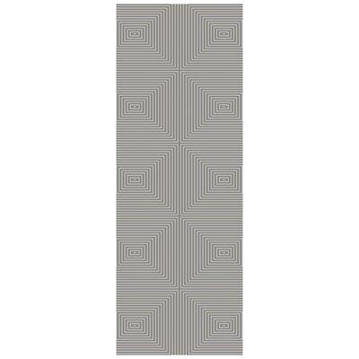 Luminous Gray Area Rug Rug Size: Runner 26 x 10