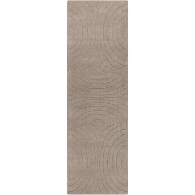 Sculpture Ivory Area Rug Rug Size: Runner 26 x 8